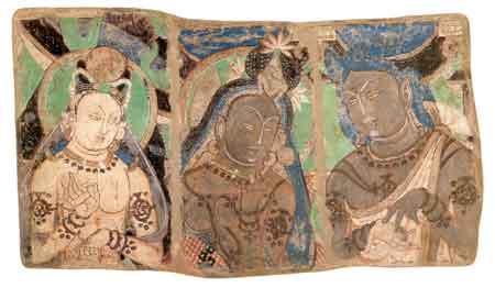Triptych from outer passage, Qizil cave no. 224