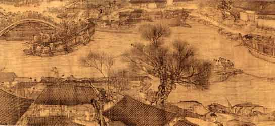 Detail of 'Qingming shanghe tu' tapestry