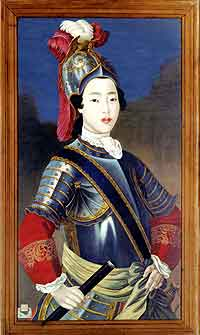 Fig. 4 'Portrait of the Fragrant Concubine in Armour' (<i>Xiang Fei rongzhuang xiang</i>)